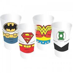 Set de 4 shooters Justice League