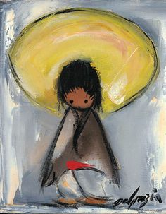 """""""I only paint eyes on the children in my paintings, because children have the freedom of expression that most adults lack."""" –DeGrazia #NationalHistoricDistrict #DeGrazia #Artist #Ettore #Ted #GalleryInTheSun #ArtGallery #Gallery #Adobe #Architecture #Tucson #Arizona #AZ #Catalinas #Desert #PaletteKnife #Colors #Oil #Children #Ninos #Painting #teddegrazia #galleryinthesun #degrazia"""