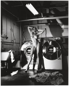 Domestic Nude III, In the Laundry Room, Chateau Marmont, Hollywood © Helmut Newton Estate