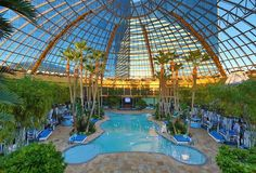 The best hotel pools in Atlantic City - WOW! The ultimate greenhouse! Yeah, in my dreams.