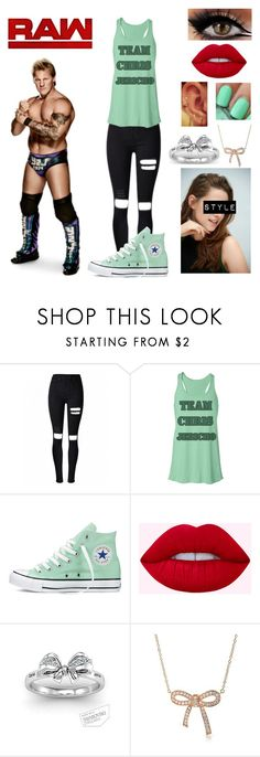 """""""You Wear His Merch-Chris Jericho"""" by queenreigns-916 ❤ liked on Polyvore featuring Converse, Bling Jewelry and WWE"""