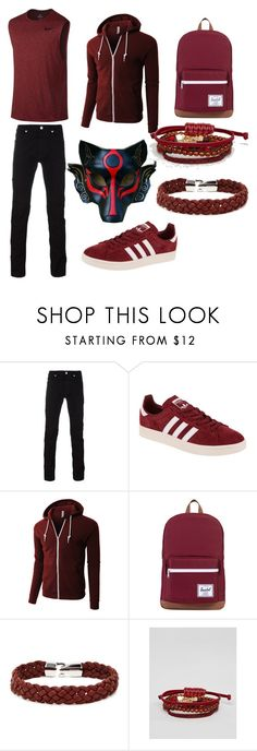 """""""Allen"""" by jaswolflover16 ❤ liked on Polyvore featuring Versace, adidas Originals, LE3NO, Herschel Supply Co., Aubaine, ASOS, NIKE, men's fashion and menswear"""