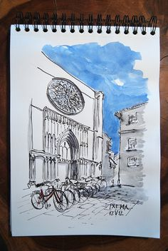 Art journal /sketchbook inspiration. Barcelona. Iglesia del Pí. by Txema Raudona, via Flickr