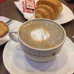 "diamond cappuccino!!!! Holo glitter? @coffeebydibella…"""