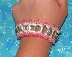beaded pop tab bracelet free #crochet pattern