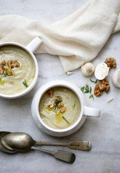 Mushroom, Garlic Greens & Walnut Soup  (11)