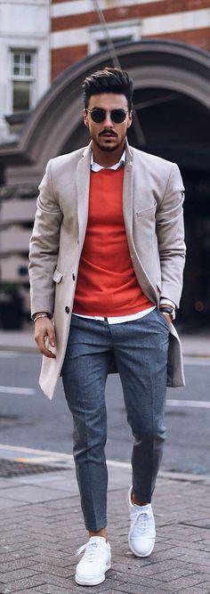 Moda hombre casual fashion men styles Ideas for 2019 Fashion Mode, New Fashion, Trendy Fashion, Winter Fashion, Fashion Trends, Fashion Ideas, Style Fashion, Fashion Spring, Woman Fashion