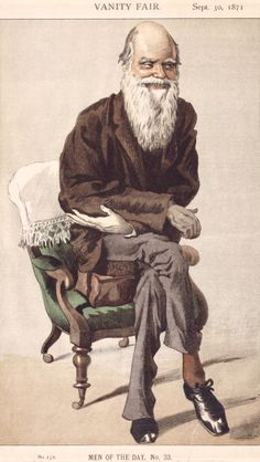 Cartoon of Charles Darwin, from Vanity Fair 1871.   (Photo by English Heritage/Heritage Images/Getty Images)