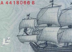 A sailing-ship on previous Latvian currency.