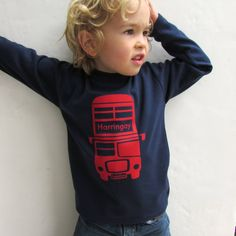 London Bus Tshirt by littlechook on Etsy