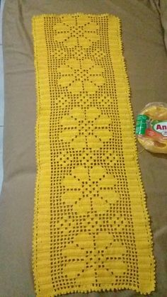 Filet Crochet, Knit Crochet, Darning, Crochet Table Runner, Vintage Crochet, Filo, Table Runners, Doilies, Shawl
