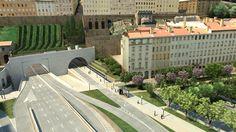 tunnel de la croix-rousse | Tunnel de la Croix-Rousse : perspective de l\'entrée côté Rhône ...