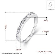 Women-039-s-Platinum-Plated-Princess-CZ-Crystal-Engagement-Rings-Promise-Rings-LT