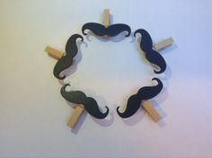 Moustache Fridge Magnets Hipster Hand-Finished by MaxNMollie