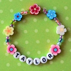 Kids Personalized Luau Party Favors Flower Lei by stargazinglily