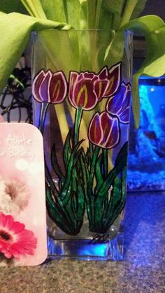 Vase sharpie gift tulips