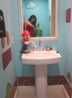 mario brothers bathroom