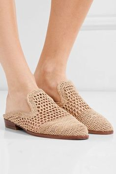 Heel measures approximately 25mm/ 1 inch Sand raffia Slip on ImportedSmall to size. See Size & Fit notes.