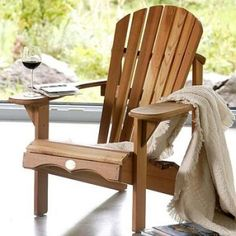 bauanleitung adirondack chair als gartenstuhl mit bauplan. Black Bedroom Furniture Sets. Home Design Ideas