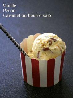 Glace vanille pécan (macadamia) et caramel au beurre salé