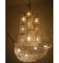 sailing ship chandelier