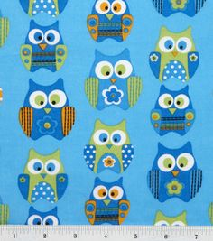 Stacked Owls, $7.99 a yard