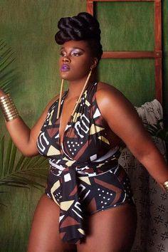 Bikinis Set Inventive Large Size Women Curve Appeal Dashiki African Printing Push-up Bikini Jumpsuit One Piece Swimsuit Women Plus Size Swimwear