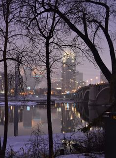 Downtown Minneapolis from St. Anthony Main