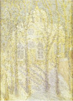 Kasimir Malevich Eglise / Church Huile sur carton / Oil on cardboard 60.3 x 44 cm Vers / Circa 1905