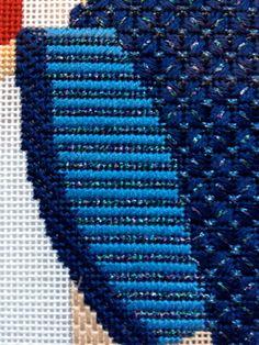 steph's stitching: Progress on the Blue Hearstrings Magi