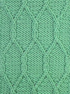 The Gothic Lattice knitting stitch pattern looks much more complex than it is.  You can accomplish this stitch without a cable needle, twisted stitches reign here.  It can be found in the Cables & Twisted Stitches category.
