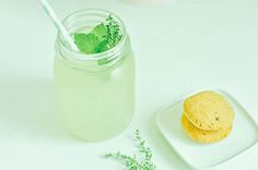 Lemon, Mint and Thyme (cookies): We Love Summer Time – Train Hard Live Clean Warm Lemon Water, Iced Tea, Train Hard, Clean Eating Recipes, Stevia, Our Love, Glass Of Milk, Summer Time, Mint