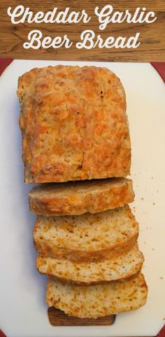 Cheddar Garlic Beer Bread recipe. Perfect with your favorite soup or ...