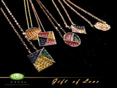 Necklaces of our Gift of Love collection.