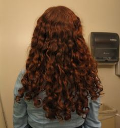 Henna + curls = What do you think? Not sure if I should do my whole head yet...