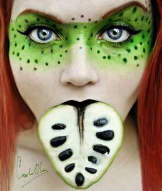 Cherimoya fruit make~up.