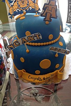NC A & T State University cake made by Judy Walker