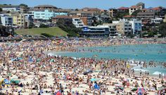 Going to Bondi Beach on a scorcher of a day.