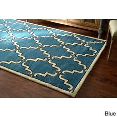 nuLOOM Handmade Luna Marrakesh Trellis Wool Rug (7'6 x 9'6) - Overstock Shopping - Great Deals on Nuloom 7x9 - 10x14 Rugs