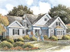 Cottage House Plan with 2457 Square Feet and 2 Bedrooms from Dream Home Source | House Plan Code DHSW53291