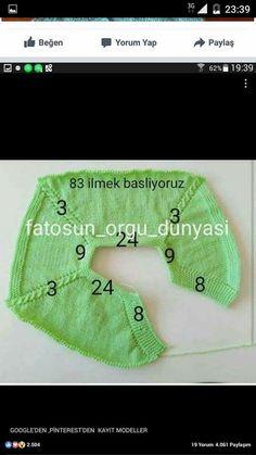 """350 Likes, 57 Comments - Fatoş Özbey ( <a href=""""/tag/fatosun_orgu_dunyasi"""">#fatosun_orgu_dunyasi</a>) on Instagram: """"Yandan düğmeli yeleğin robasini soran arkadaşlar için ( öndeki patın üstündeki 8 ilmek öndeki 24…"""""""