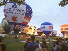 Keep your eye to skies this weekend and you might just catch the Mortenson Family Dental hot air balloon!  Tonight: The Great Balloon Glow begins at 9:00 Tomorrow: Great Balloon Race begins at 7:00AM . . #greatballoonglow #balloonglow #greatballoonrace #derby #kyderby #derby2017 #balloons #glow #race #dentist #louisville #kentucky