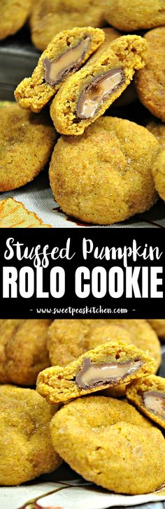 Looking for delicious stuffed cookies? Wait until you try this pumpkin cookie recipe which are actually a Stuffed Pumpkin Rolo Cookie. Pumpkin Cookie Recipe, Pumpkin Spice Cookies, Pumpkin Bread, Pumpkin Recipes, Cookie Recipes, Rolo Cookies, Frozen Pumpkin, Pumpkin Cheesecake Bars, Pumpkin Cream Cheeses