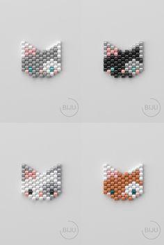 Peyote Patterns, Beading Patterns, Stitch Patterns, Beading Projects, Beading Tutorials, Beaded Jewelry Patterns, Bracelet Patterns, Brick Stitch Earrings, Bead Earrings