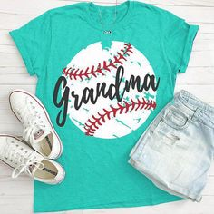 Baseball Grandma T-Shirt This t-shirt is Made To Order, one by one printed so we can control the quality. Baseball Gear, Baseball Party, Baseball Season, Baseball Tickets, Baseball Equipment, Baseball Crafts, Baseball Scrapbook, Travel Baseball, Baseball Live