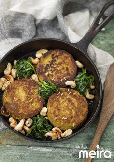 Mausteiset ja mehevät pähkinä-juurespihvit onhelppo kasvisruoka…