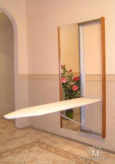 Long built- in ironing board. Может кому понравится такое решение для расположения гладильной доски.