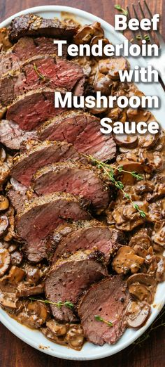 Beef Dishes, Food Dishes, Main Dishes, Beef Tenderloin Recipes, Perfect Beef Tenderloin, Pork Recipes, Cooking Recipes, Recipies, C'est Bon