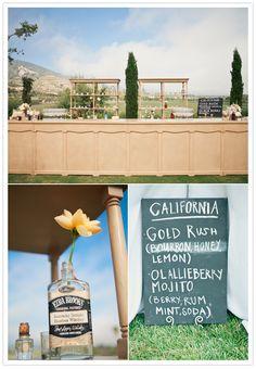 custom California cocktails at a estate santa barbara wedding