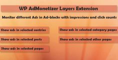 Layers - WP AdMonetizer  Pro Extension . Layers has features such as Compatible Browsers: IE8, IE9, IE10, IE11, Firefox, Safari, Opera, Chrome, Compatible With: Layers WP, Software Version: WordPress 4.1, WordPress 4.0, WordPress 3.9, WordPress 3.8, WordPress 3.7, WordPress 3.6, WordPress 3.5, WordPress 3.4, WordPress 3.3, WordPress 3.2